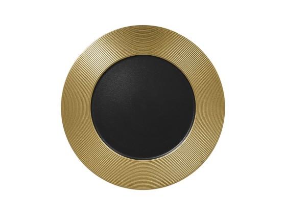 Lautanen musta/kulta Ø 33 cm
