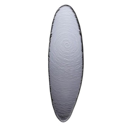 Lasilautanen soikea savunharmaa P 40 cm