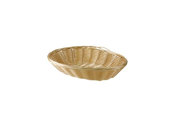 Leipäkori soikea luonnonvalkoinen  23x15 cm