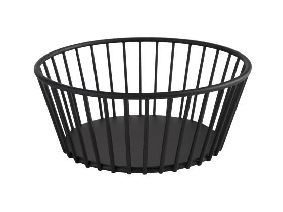 Leipäkori metalli musta Ø 17 cm
