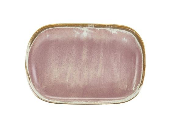 Lautanen suorakaide roosa 24x16,5 cm
