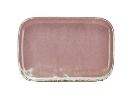 Lautanen suorakaide roosa 34,5x23 cm