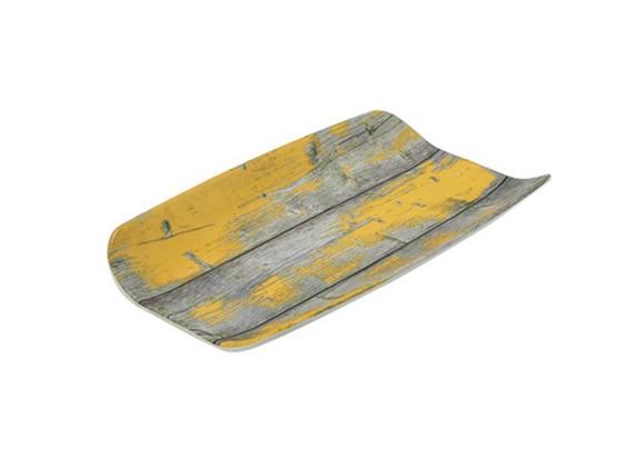Tarjoiluvati melamiini puukuvio/keltainen  GN 1/3