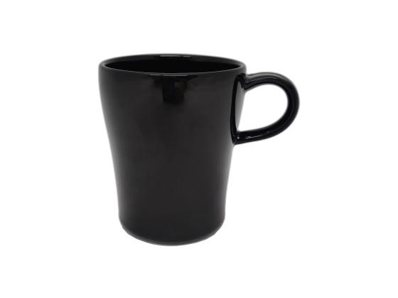 Kahvikuppi pinottava 28 cl musta kiiltävä