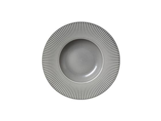 Gourmetlautanen  syvä vaaleanharmaa Ø 28,5 cm