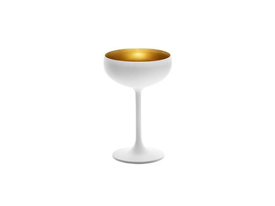 Cocktail-lasi valkoinen/kulta 23 cl