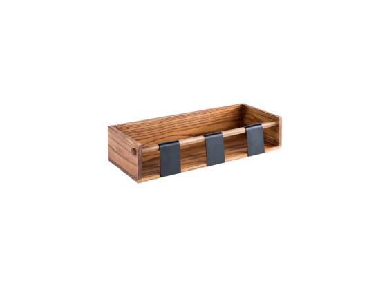 Kastikepulloteline puinen 40x16x9 cm