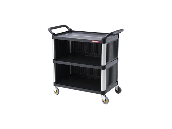 Tarjoiluvaunu musta sivupaneeleilla 950x500x945 mm