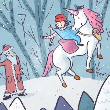 Au pied d'un arbre, tu croiseras magicien, princesse, dinosaures, maître Chat, licorne et même le Père-Noël ! Il faudra les aider...
