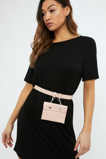 BLUSH HANGING PURSE BELT