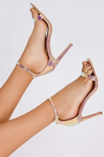 RIONA ROSE MERMAID IRIDESCENT BARELY THERE HEELS