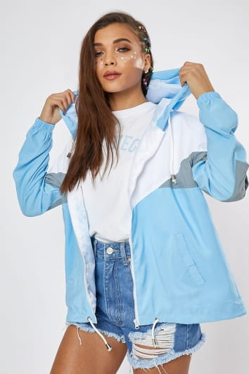 TERESAH BABY BLUE COLOURBLOCK WINDBREAKER