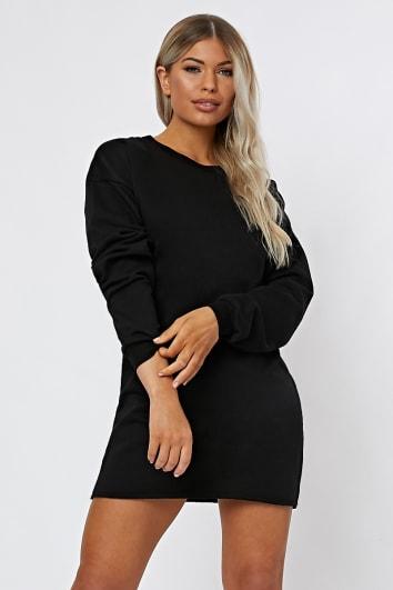 9196c3d754a LOUNA BLACK OVERSIZED SWEATER DRESS