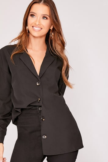 cdc88bd51d269 MIKALA BLACK HORN BUTTON SHIRT