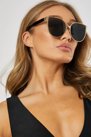 GOLD EXTREME OVERSIZED SUNGLASSES