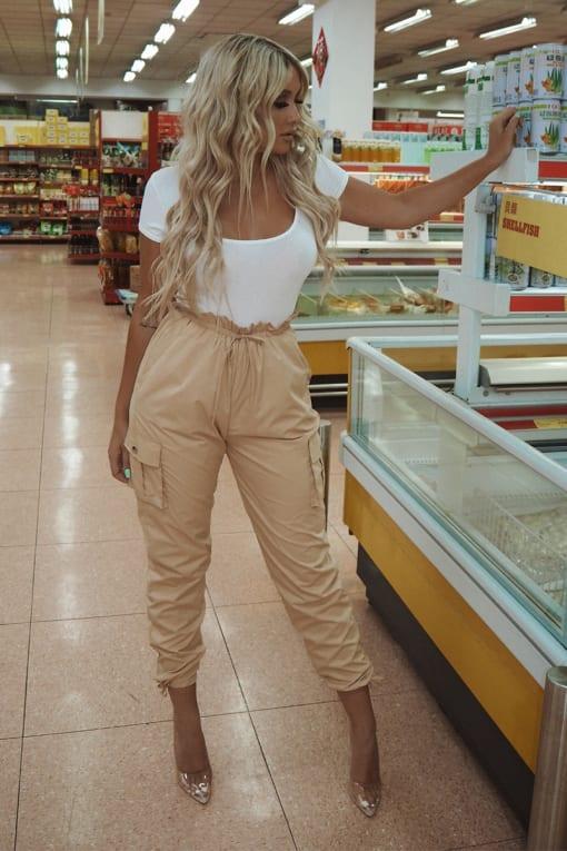 SARAH ASHCROFT STONE PAPERBAG TRACK PANTS