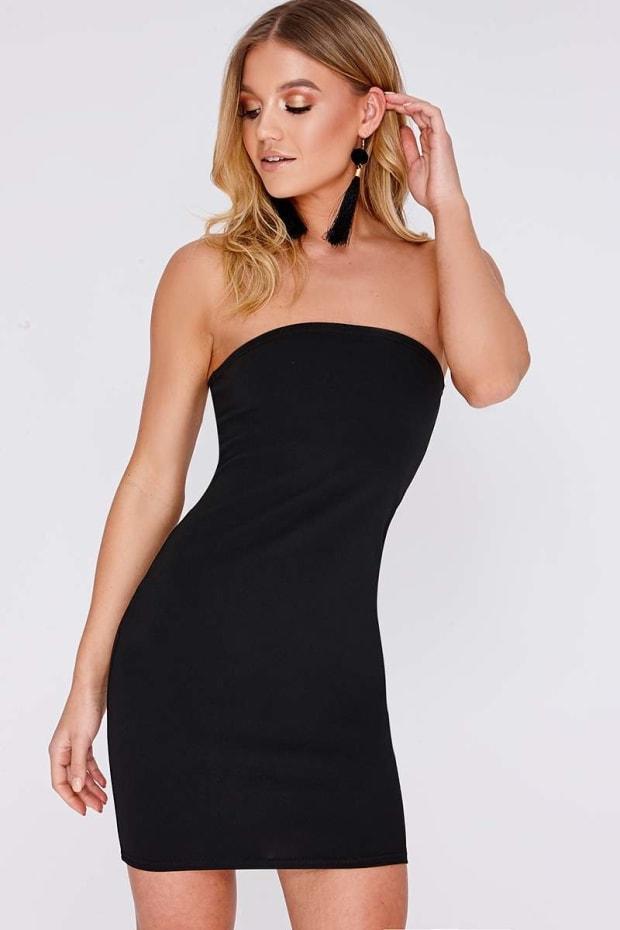 Black Bandeau Dress