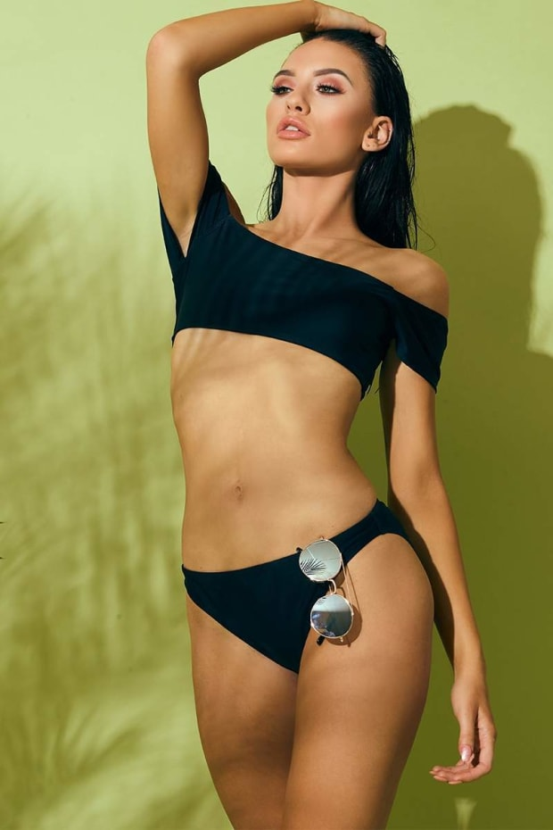 BLACK MIX & MATCH BRIEF BIKINI BOTTOMS