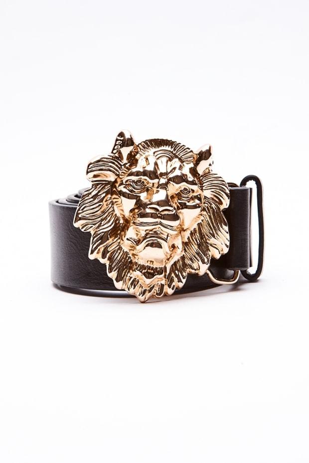 GOLD LION HEAD BUCKLE BELT