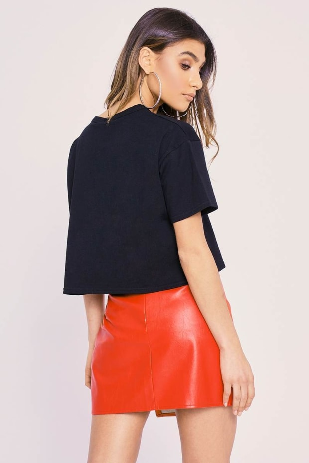 f779ae6d28f2 Previous. CHARLOTTE CROSBY RED FAUX LEATHER ZIP FRONT MINI SKIRT. CHARLOTTE  CROSBY RED FAUX LEATHER ZIP FRONT MINI SKIRT