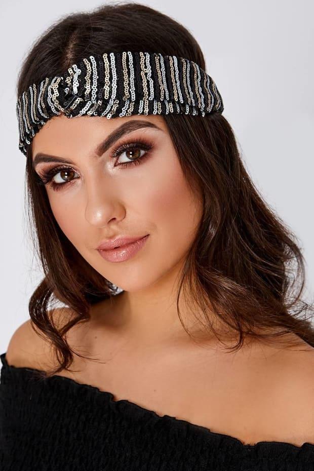 Black Sequin Headband  8a38c802f61