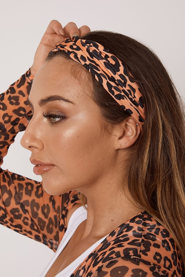 ARCHER ORANGE LEOPARD HEADBAND