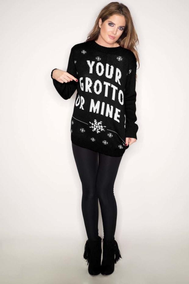 Binky Grotto Christmas Jumper (Black)
