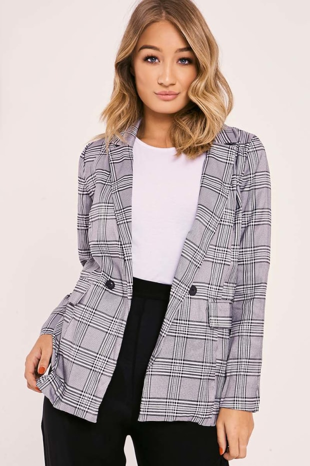 MILANI GREY CHECKED BLAZER