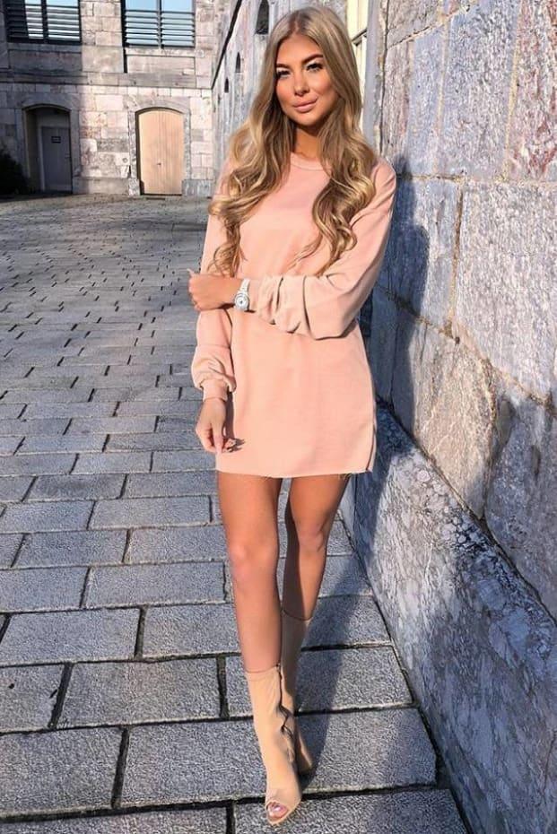 LOUNA NUDE OVERSIZED SWEATER DRESS