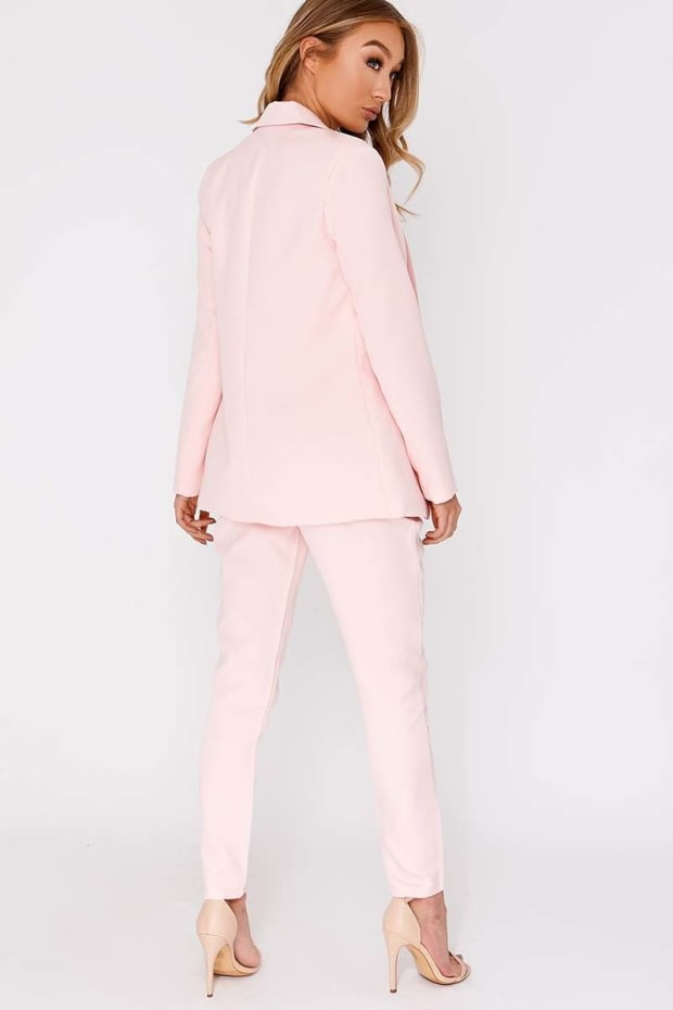 79e836fa53c5 Nessie Baby Pink High Waisted Trousers