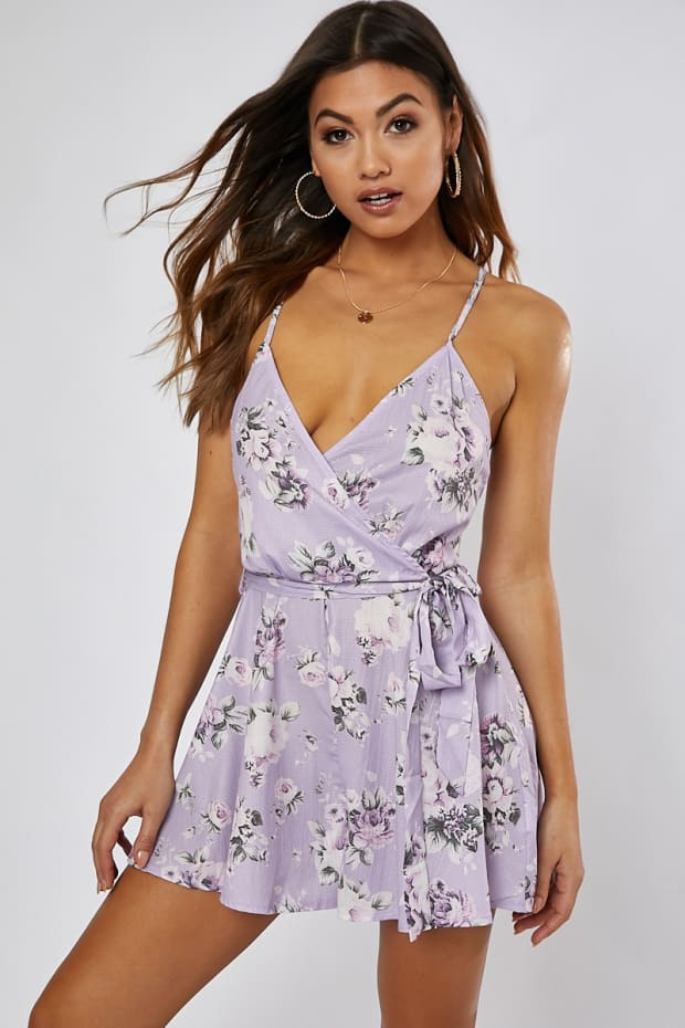 a92448000fb Previous. ELKA LILAC ROSE PRINT WRAP FRONT PLAYSUIT. ELKA LILAC ROSE PRINT  WRAP FRONT PLAYSUIT