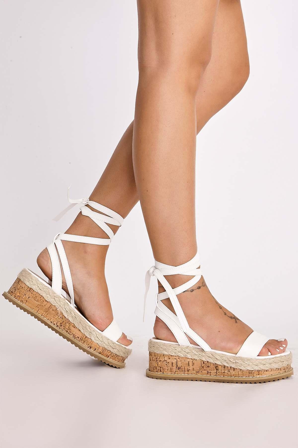 3d2aa6983b72 SELBY WHITE TIE LEG PLATFORM ESPADRILLES