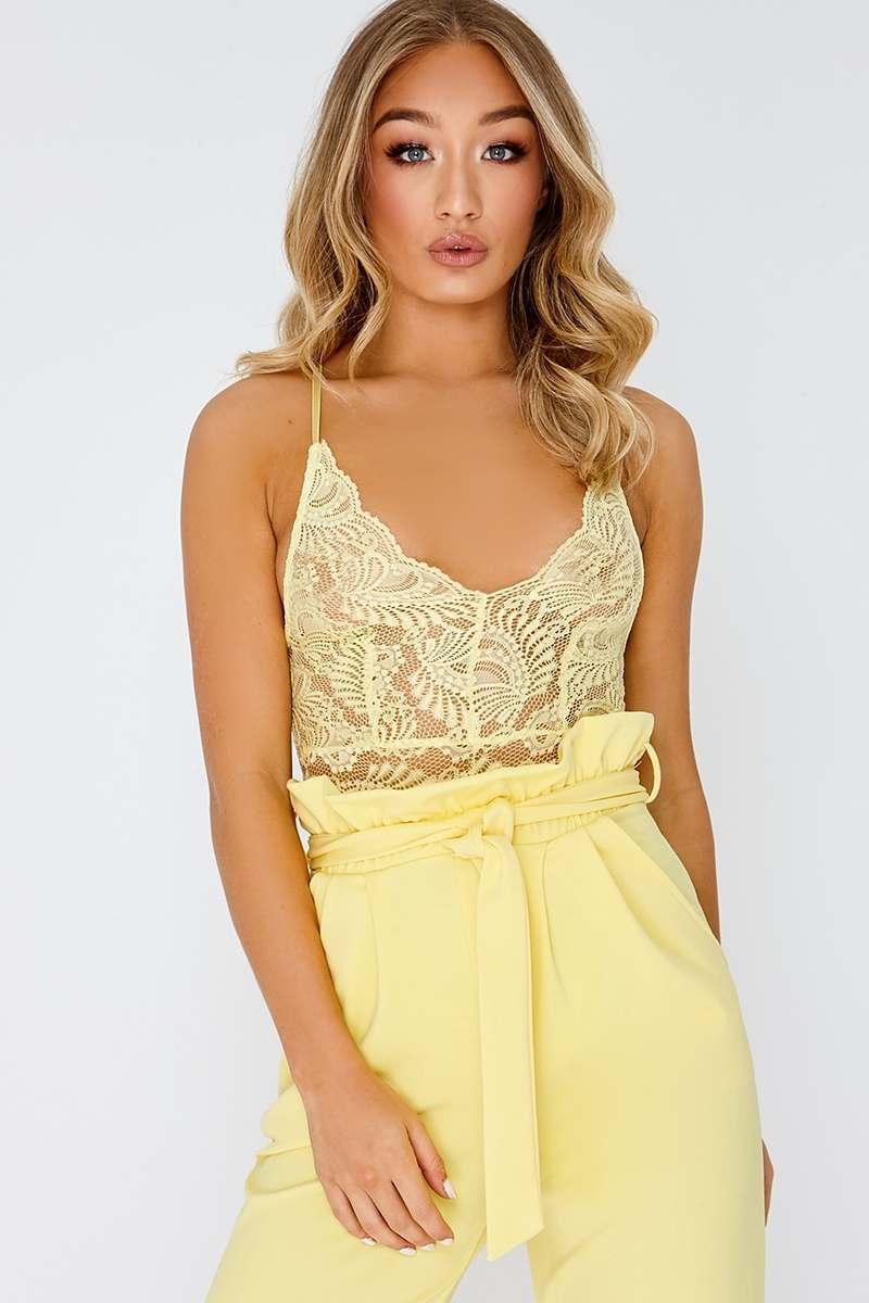 776d752b6f Kristella Lemon Lace Bodysuit