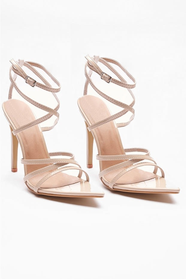 eb4a6a07109 Varia Nude Strappy Pointed Heels
