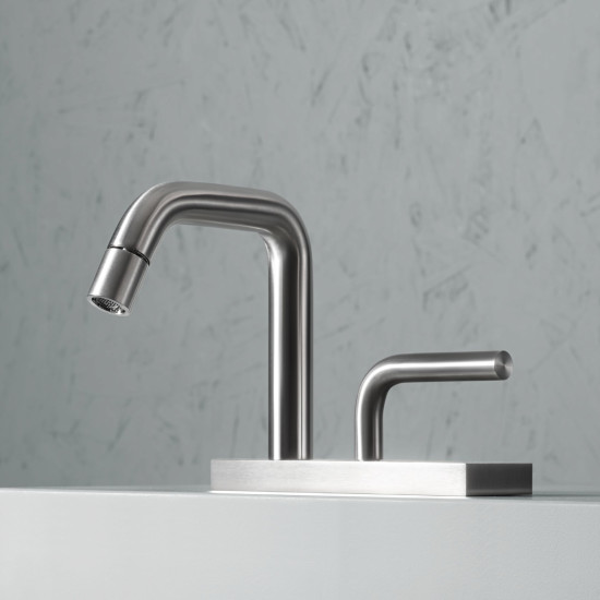Levo: Bidet mixer H 146 mm with adjustable spout