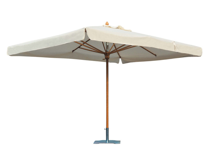 Palladio Standard: Central pole parasol in different sizes and colours