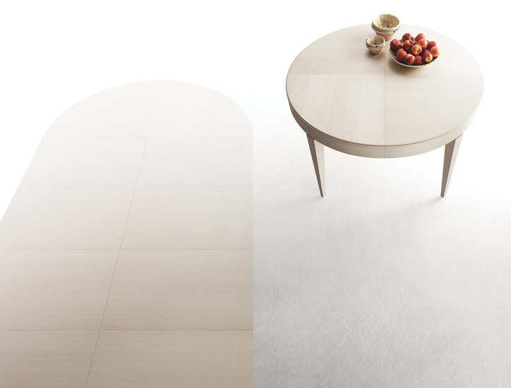 Edo Round: Extensible table in different finishings