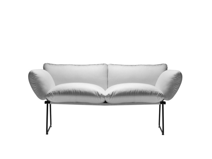 Elisa: 2 seater sofa with steel structure