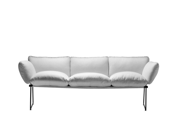 Elisa: 3 seater sofa with steel structure