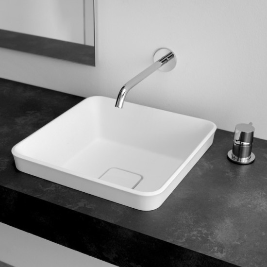 Brio: Semi-recessed washbasin 38 cm x 38 cm