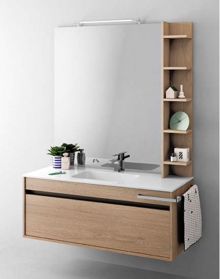 Duetto 11: Monoblock W 124 cm D 51 cm with 1 drawer