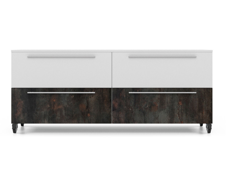 Alfa-box: Drawer unit L 160 cm W 58 cm H 74 cm in different finishings