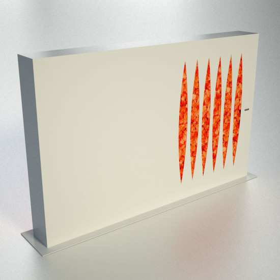 The Monolith: Free standing decorative flame in different versions