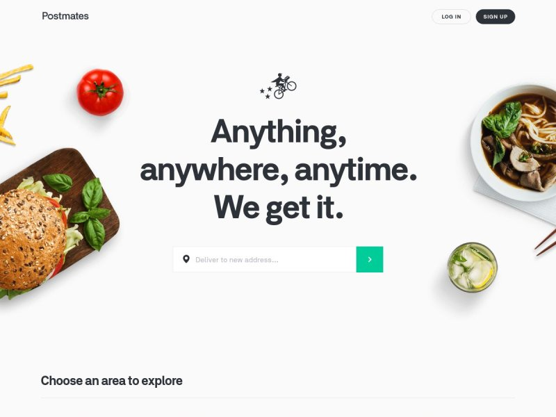 Food Delivery - Postmates On-Demand Delivery