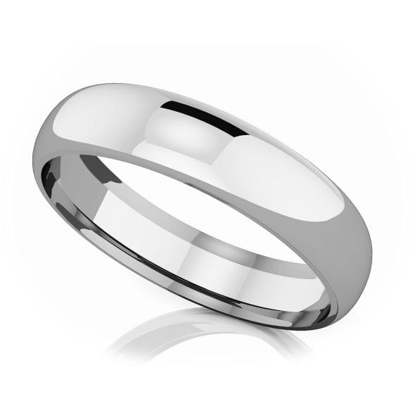 แหวนPlatinum - 5 mm Comfort fit classic