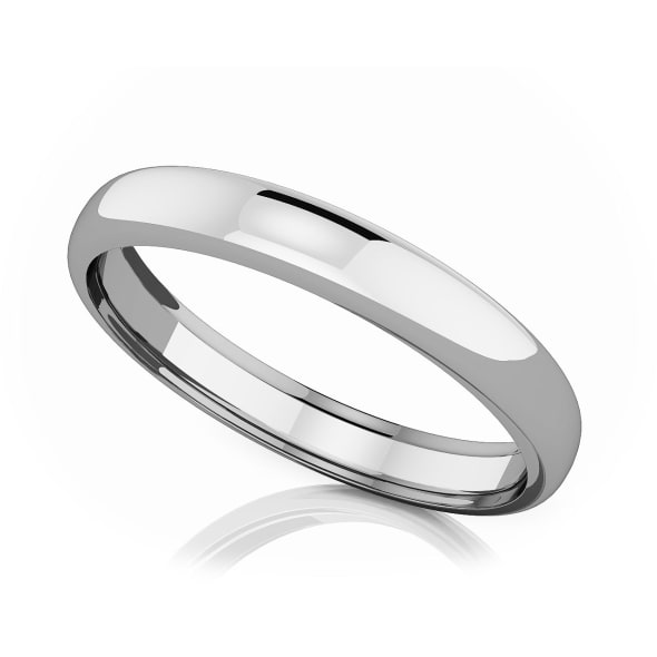 แหวนPlatinum - 3.50 mm Domed shape romantic classic band