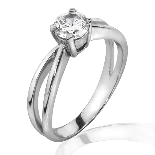 18K Gold and 1.03 Carat D Color VS2 Clarity EX/VG/VG IGL Certified Diamond Ring