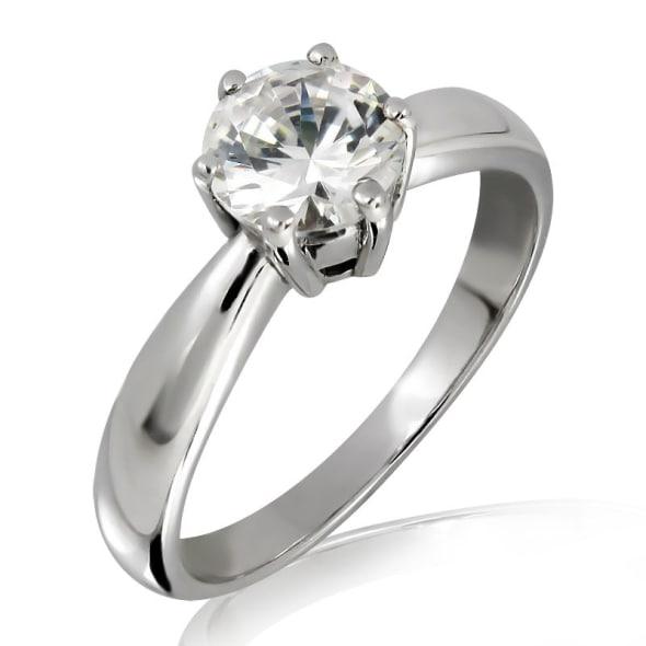แหวนทอง 18K ประดับเพชร น้ำหนักรวม 1.01 กะรัต ค่าสี D ค่าความสะอาด VS2 EX/EX/EX เพชรมาพร้อมใบรับรองจากสถาบัน IGL
