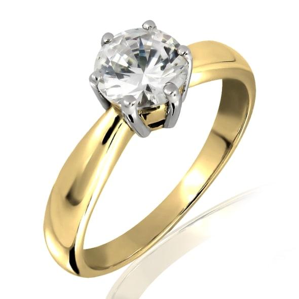 แหวนทอง 18K ประดับเพชร น้ำหนักรวม 0.97 กะรัต ค่าสี D ค่าความสะอาด VVS2 EX/EX/EX เพชรมาพร้อมใบรับรองจากสถาบัน IGL