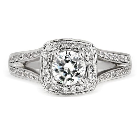 แหวนทอง 18K ประดับเพชร น้ำหนักรวม 0.60 กะรัต ค่าสี E (น้ำ 99) ค่าความสะอาด VS2